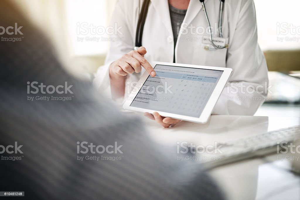 Treatment and technology stock photo