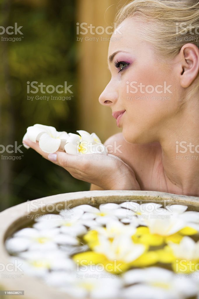 Treatment in spa stock photo