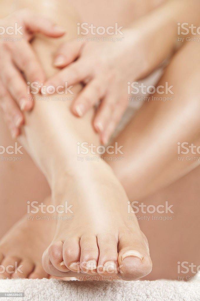 treatment of legs stock photo