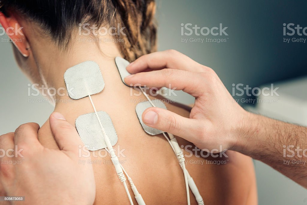 TENS treatment stock photo