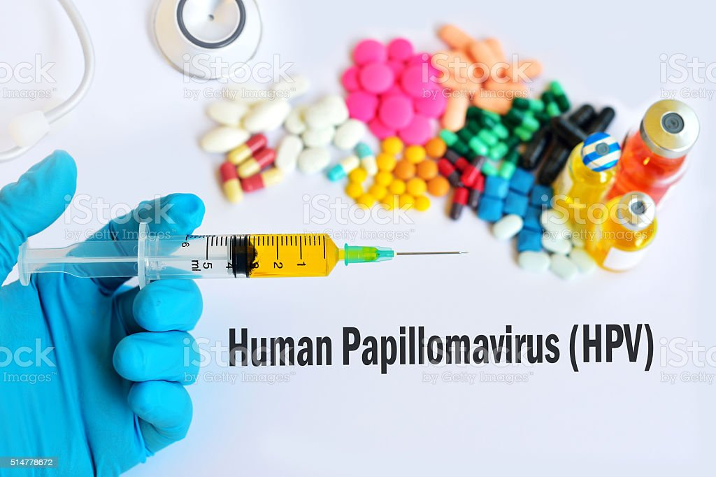 HPV treatment stock photo