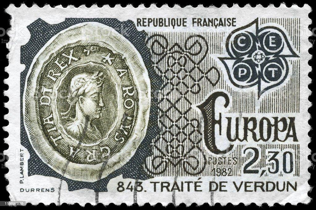 Treaty of Verdun stock photo