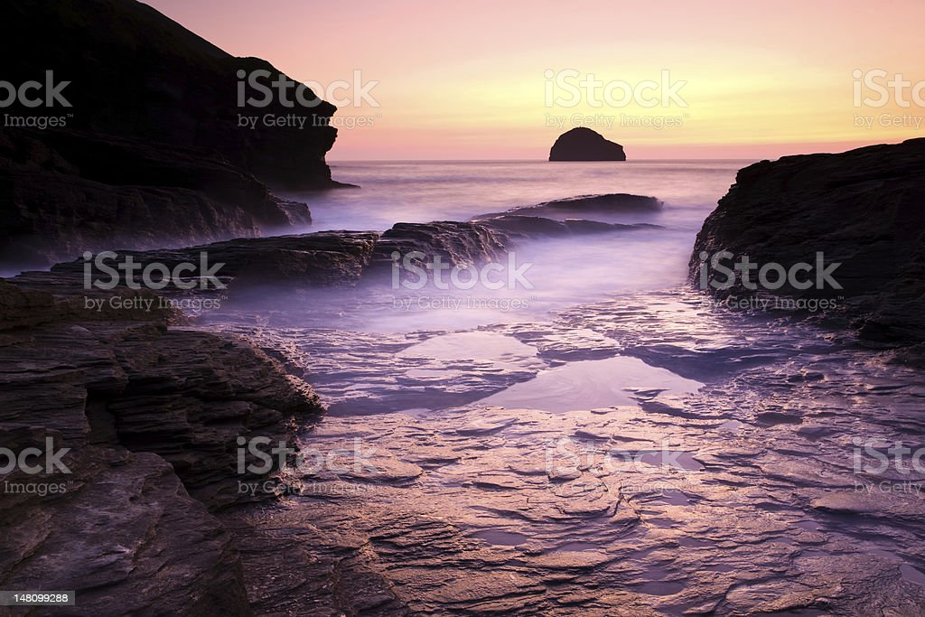Trebarwith photo libre de droits