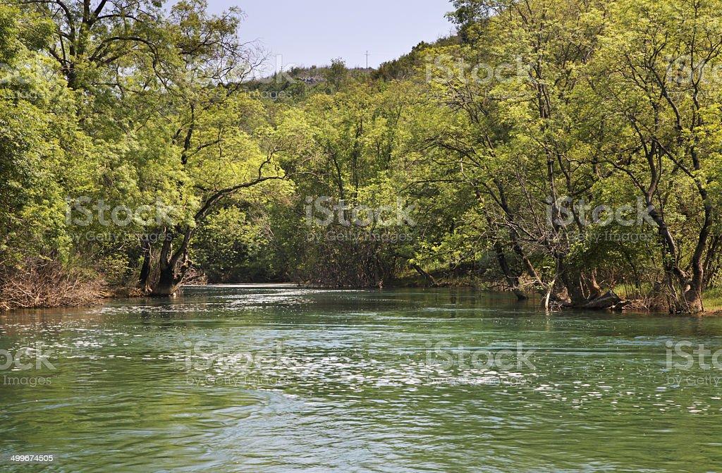 Trebizat  river in Ljubuski. Bosnia and Herzegovina stock photo