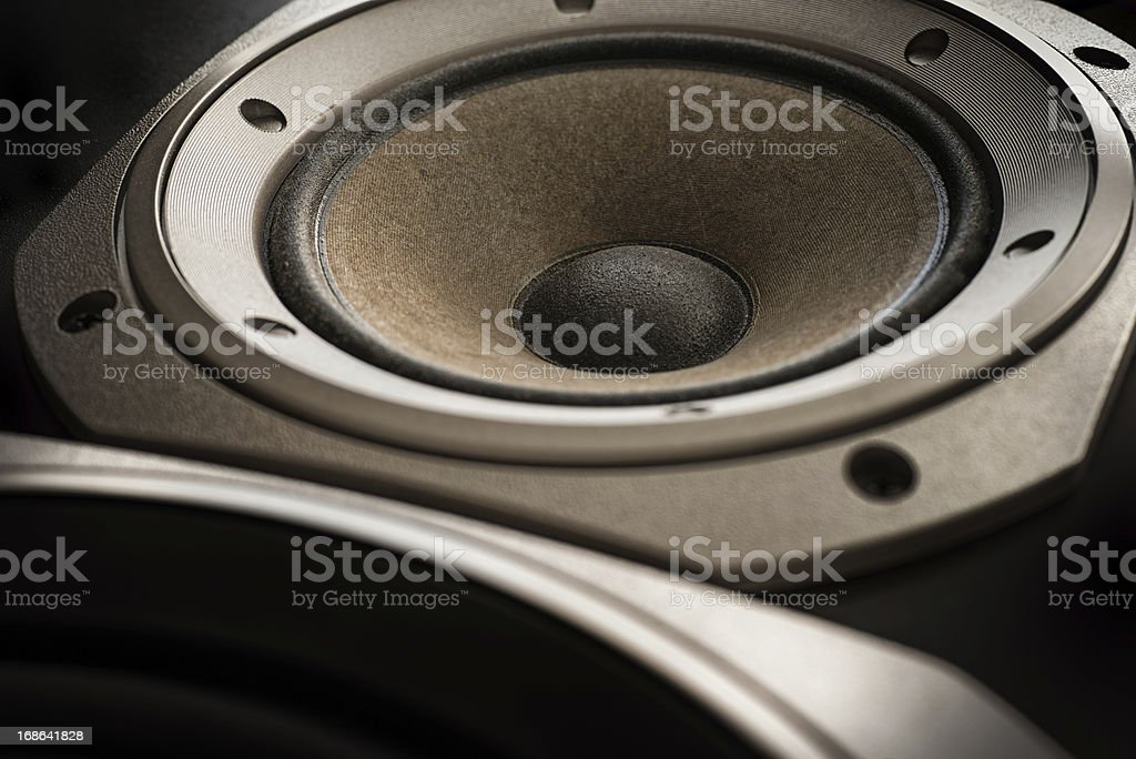 treble and bass music close up stock photo