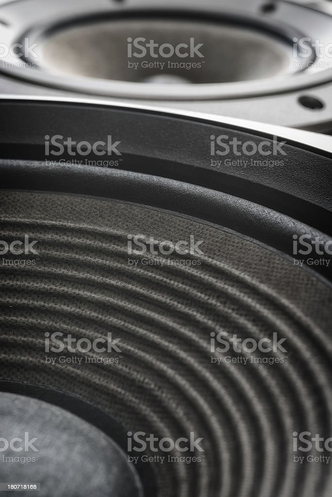 treble and bass music close up royalty-free stock photo