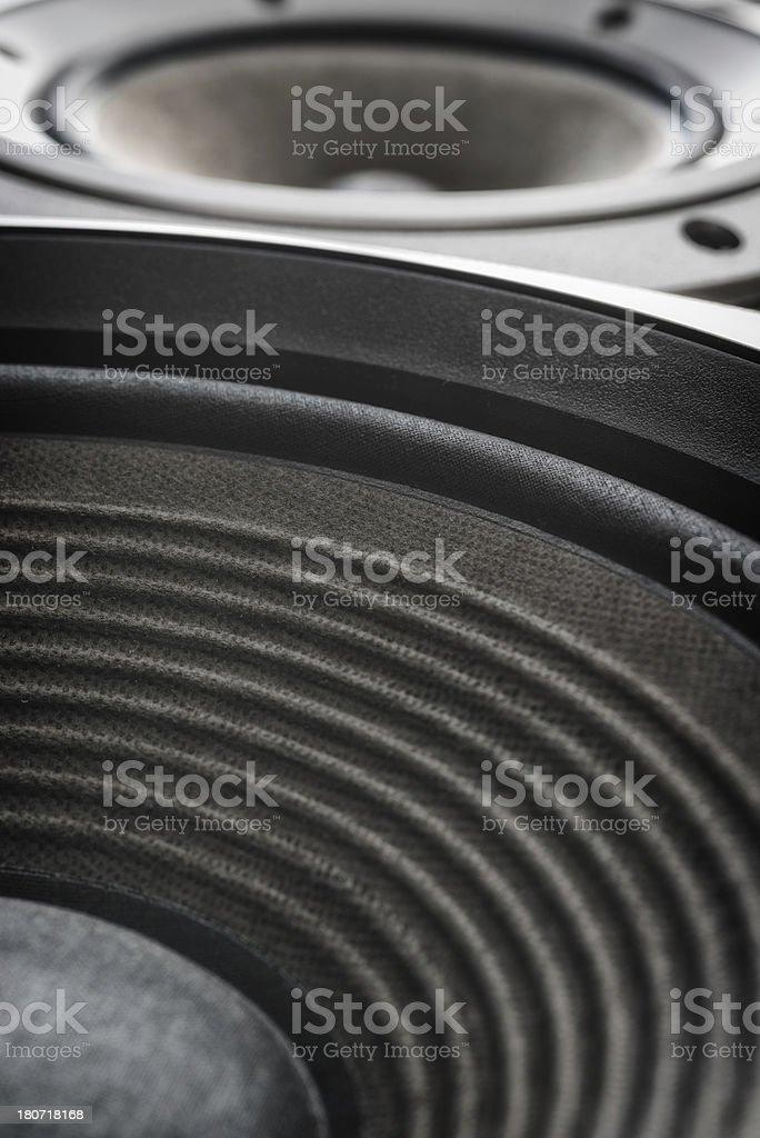 treble and bass music close up stock photo