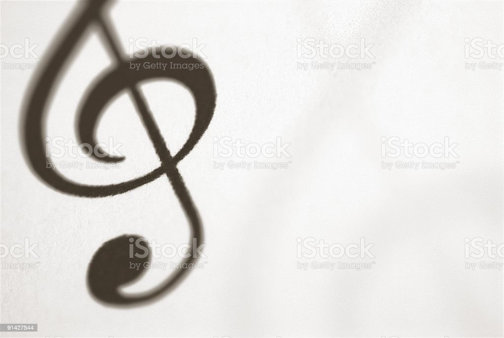 Treble Clef musical symbol royalty-free stock photo