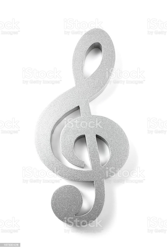 Treble Clef stock photo