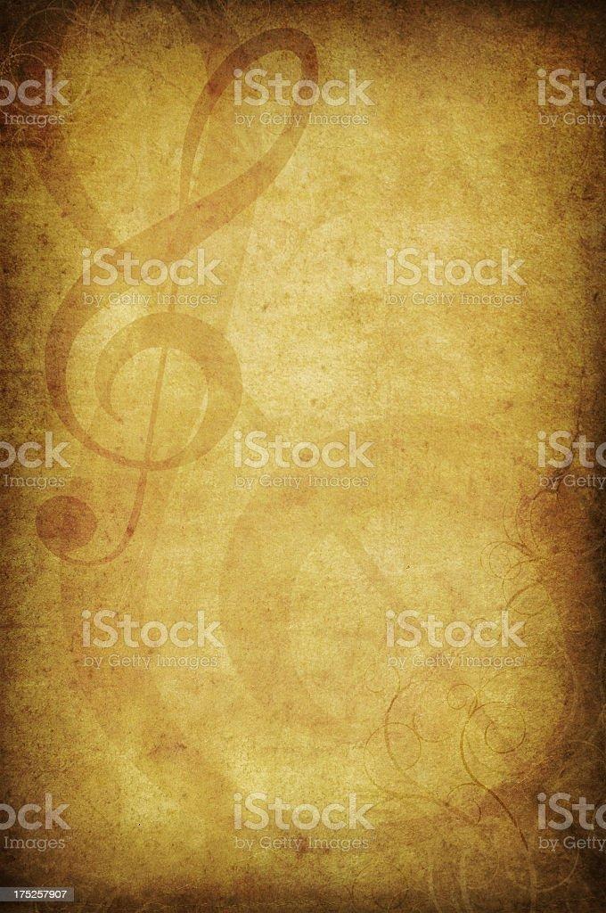 Treble clef stock photo