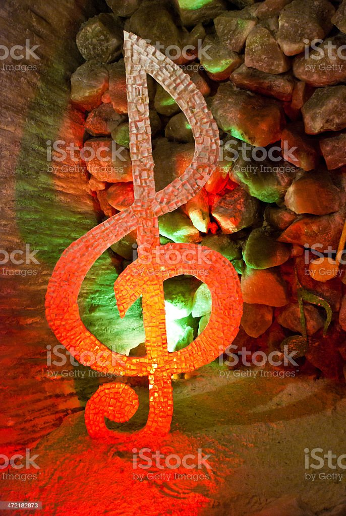 treble clef royalty-free stock photo