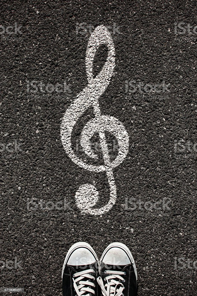 Treble Clefs Sign royalty-free stock photo