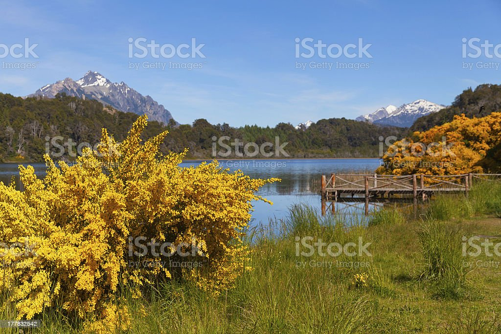Trebol lagoon, Bariloche,Patagonia, Argentina royalty-free stock photo