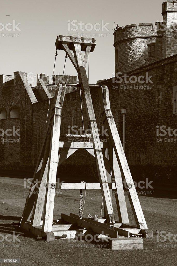 Trebuchet at The Tower of London stock photo