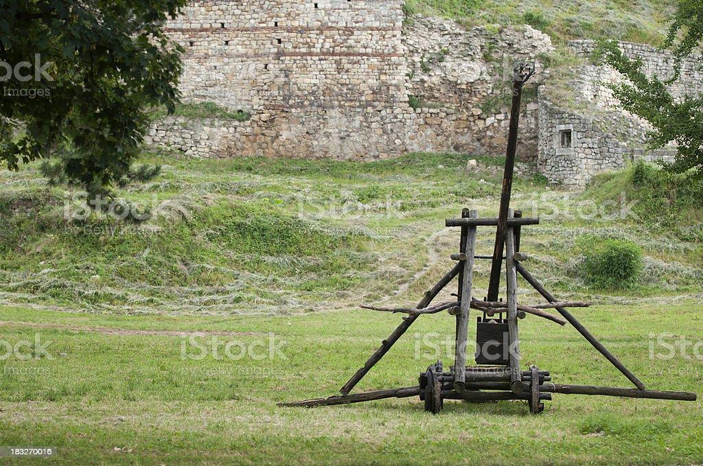 Trebuchet catapult stock photo