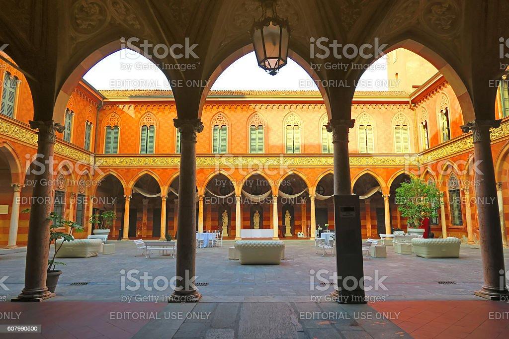 Trecchi Palace,Cremona, Italy stock photo