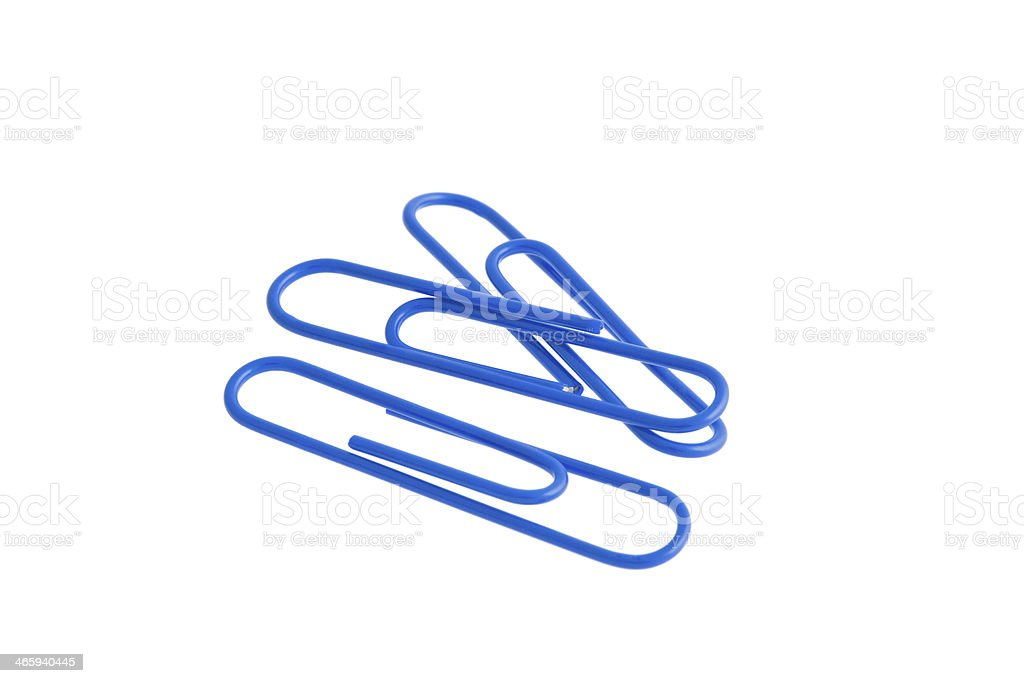 Tree blue paper clips royalty-free stock photo