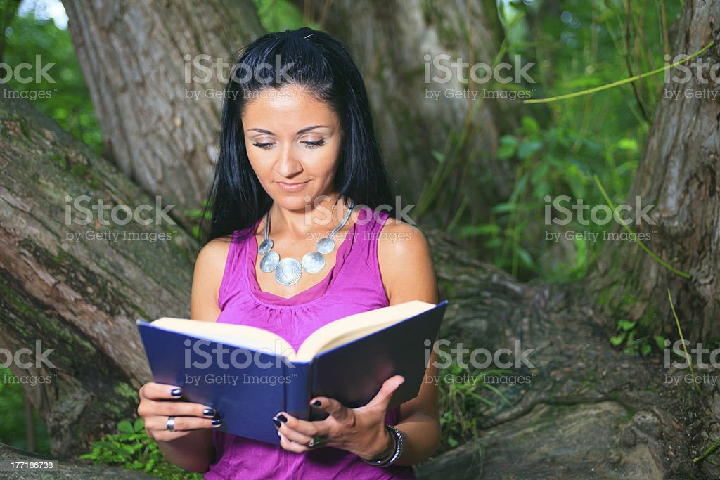 Tree Book Woman royalty-free stock photo