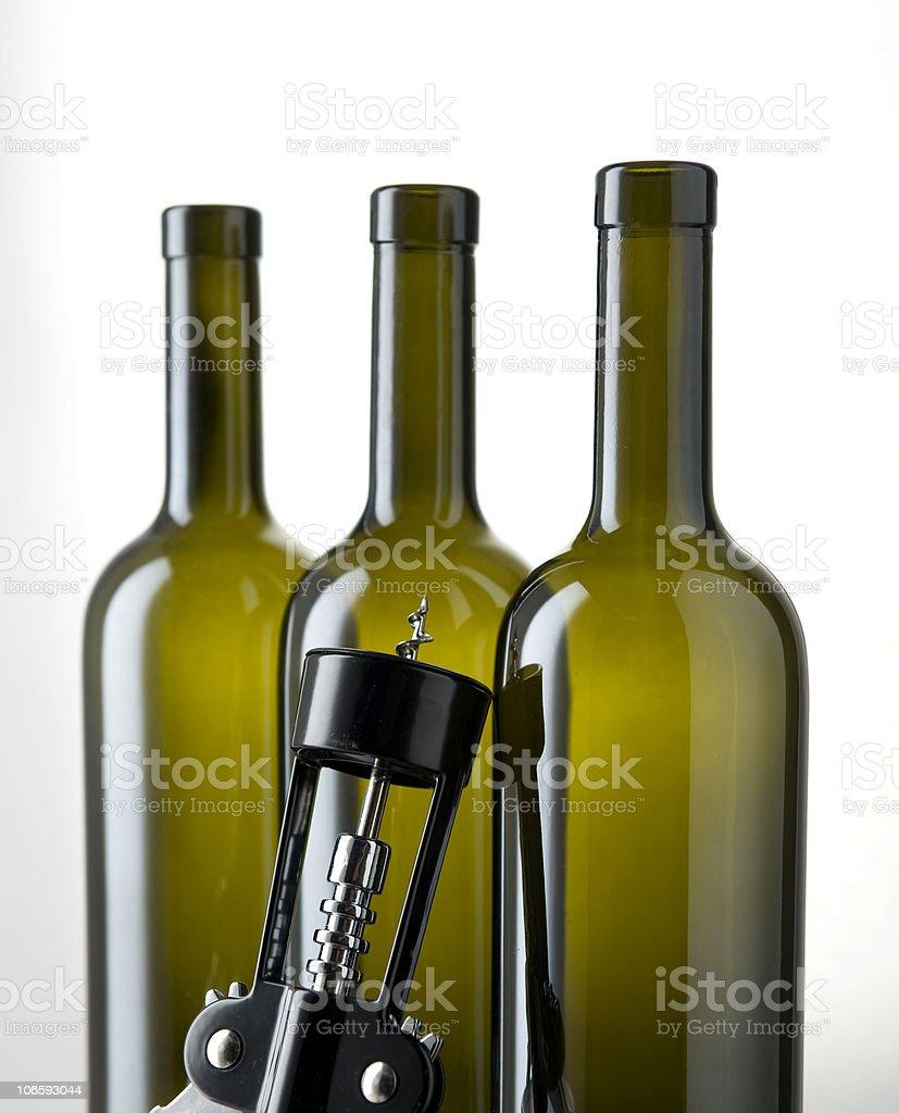 tree bottles stock photo