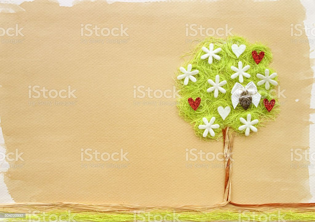 Tree  craft stock photo