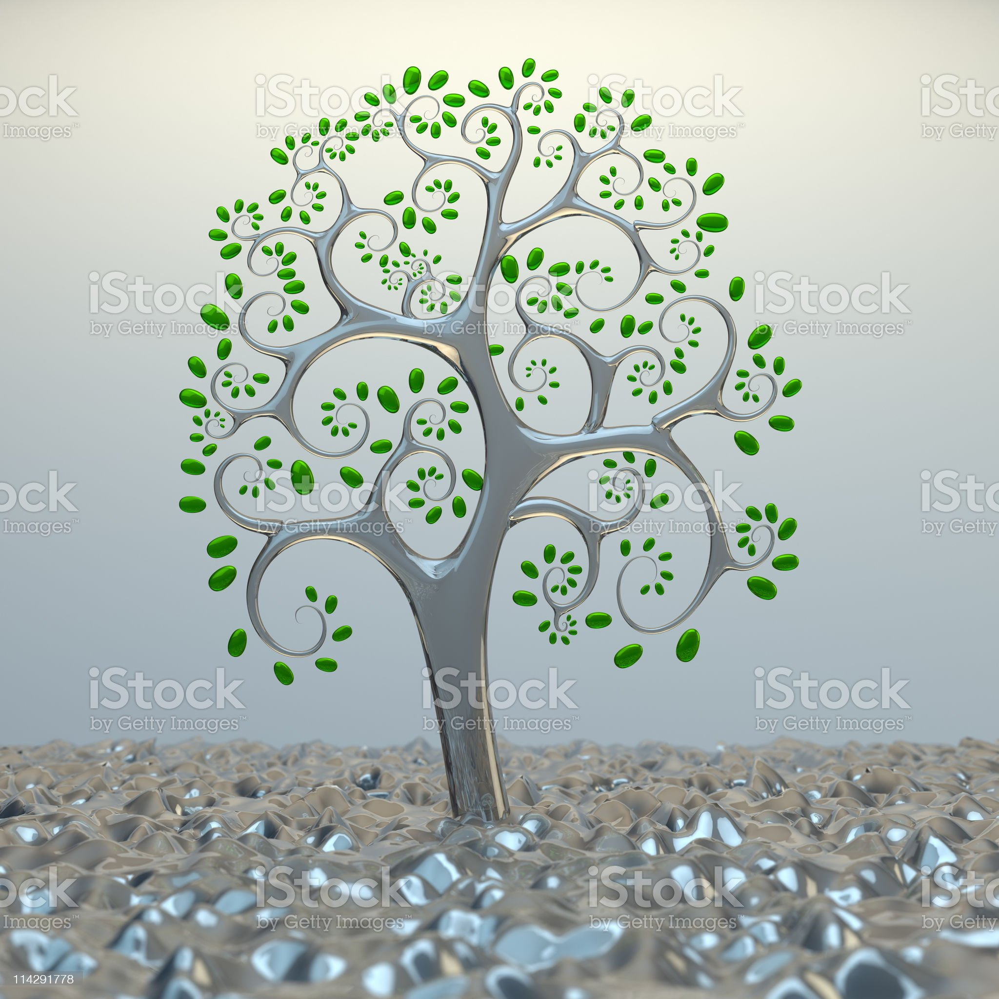 Tree from golden section elements. royalty-free stock photo