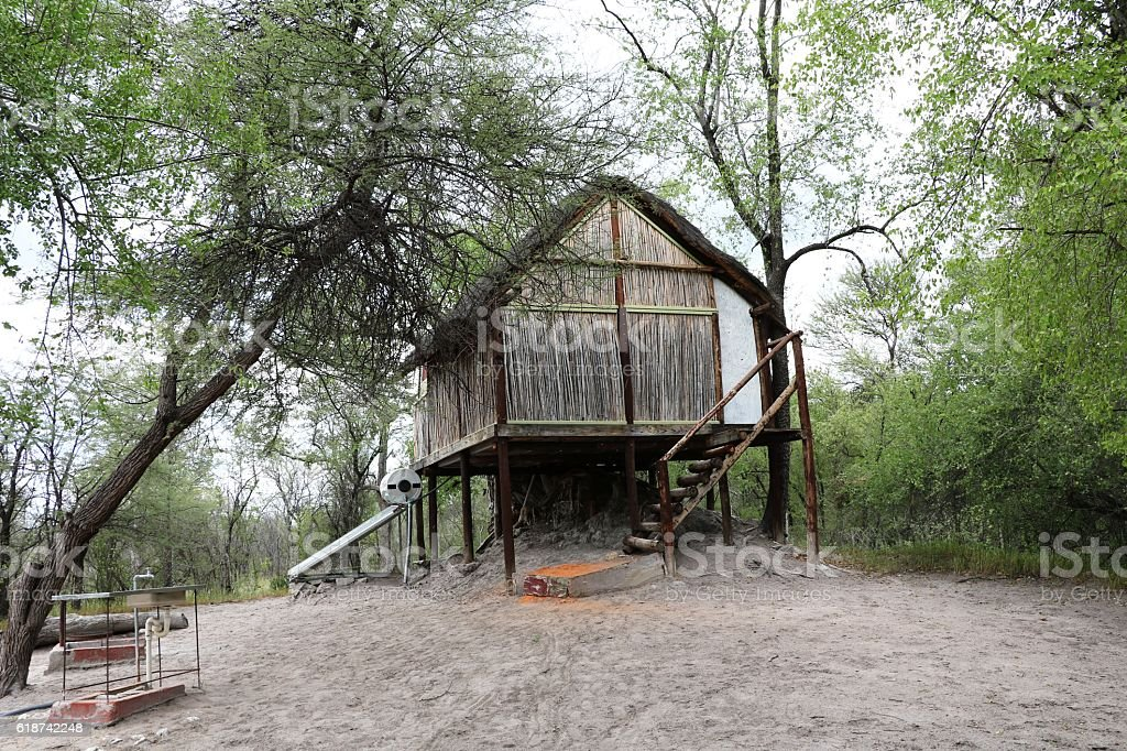 Tree house in Namibia, Africa stock photo