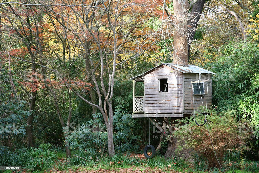 Tree house stock photo