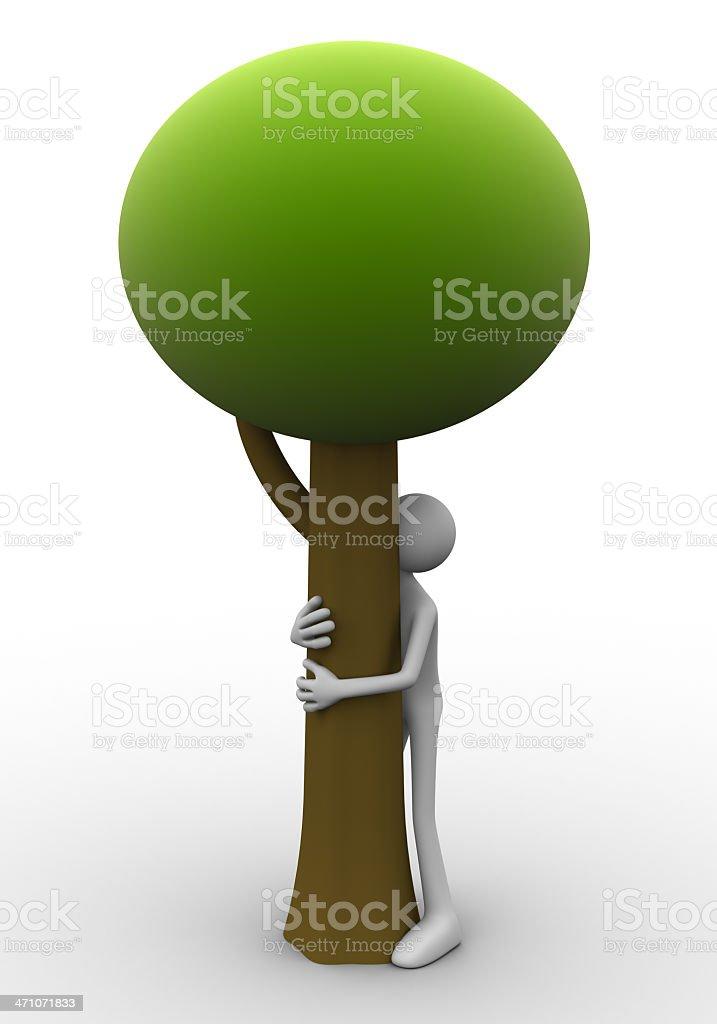 Tree hug royalty-free stock photo