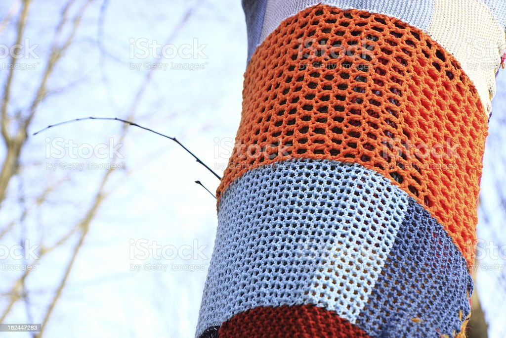 Tree in fashion knit royalty-free stock photo