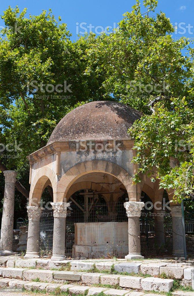 Tree of Hippocrates at Kos island, Greece stock photo