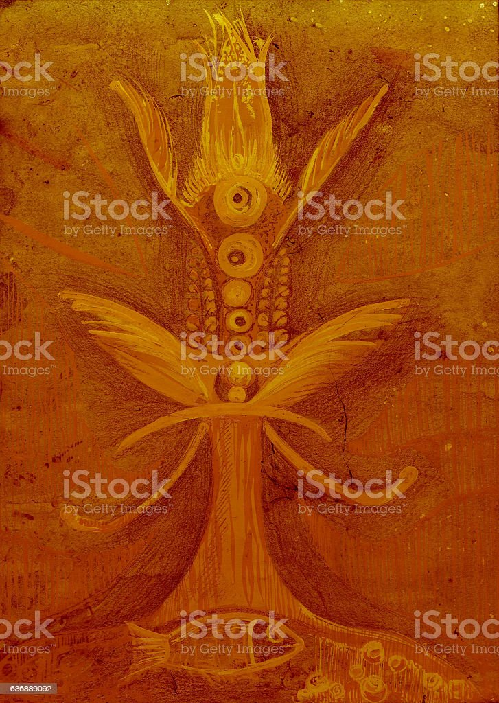 tree of life tinted paper, stock photo