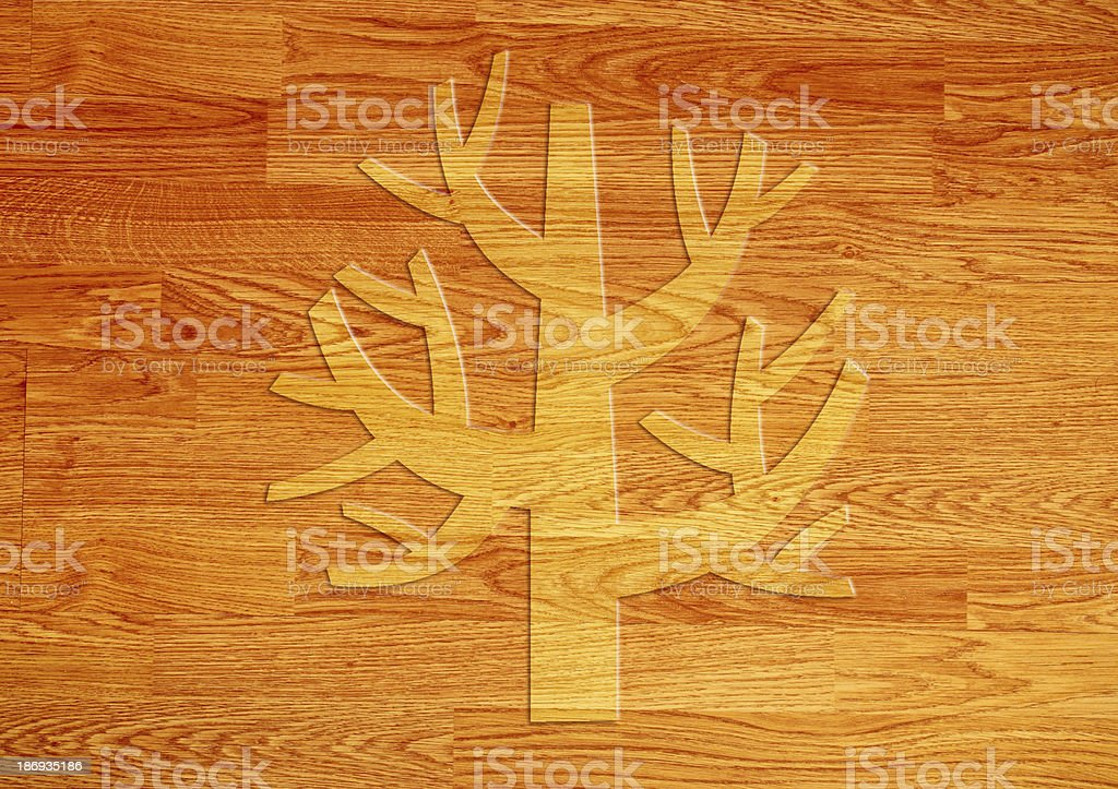 tree over wooden background royalty-free stock photo
