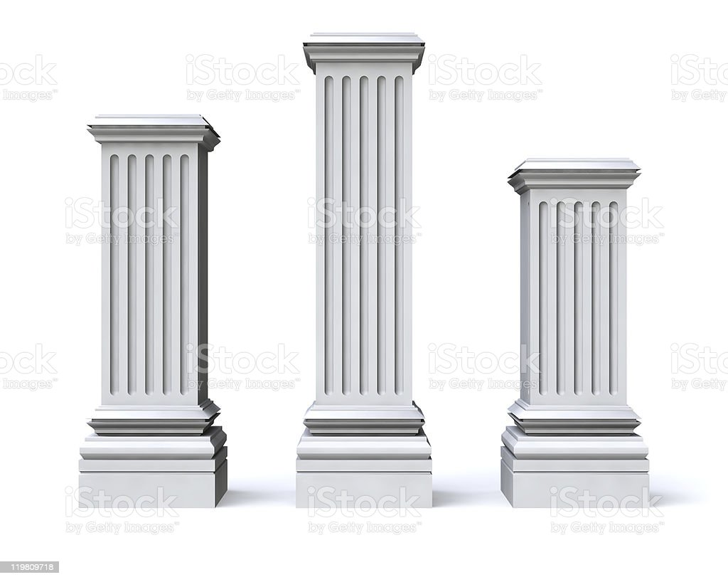 Tree pedestals royalty-free stock photo