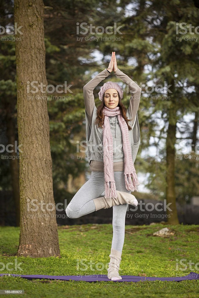 Tree Pose royalty-free stock photo