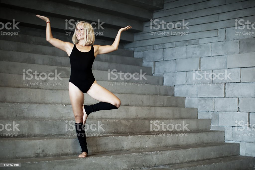Tree pose stock photo