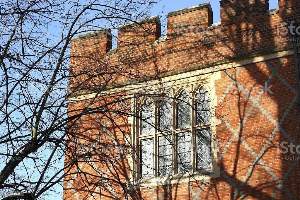 Tree Shadows on Eton College stock photo