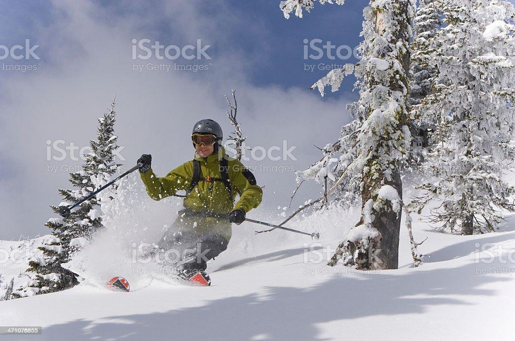 木のスキー ロイヤリティフリーストックフォト