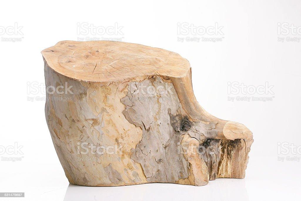 Tree Stump Isolated On White Background stock photo