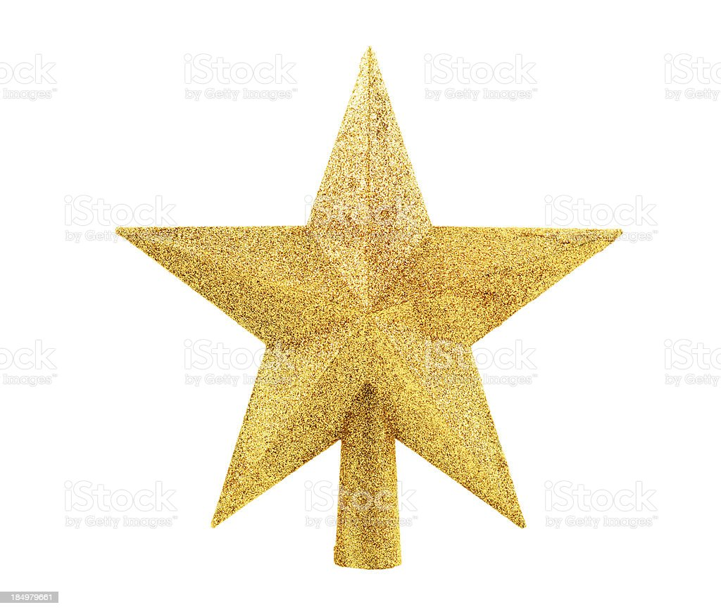 tree topper with clipping path stock photo