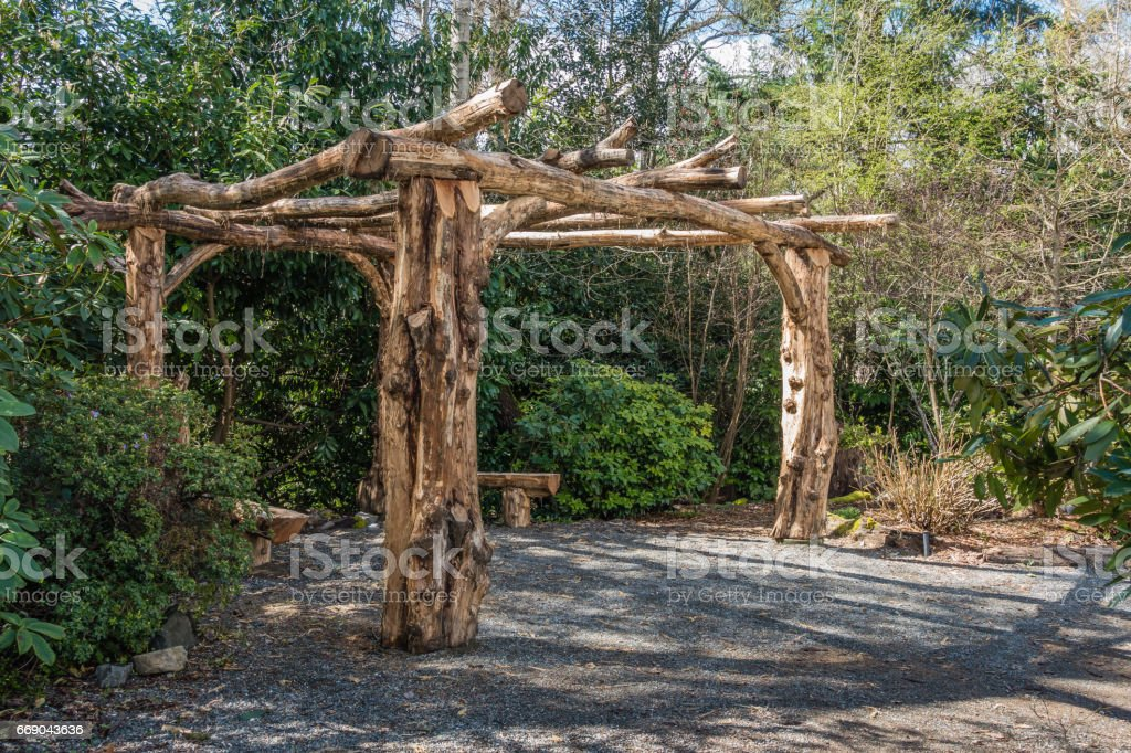 Tree Trunck Gazebo stock photo