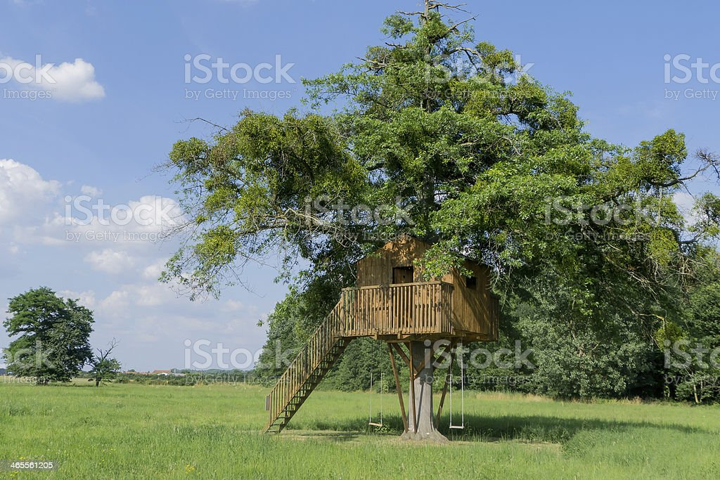 Treehouse stock photo