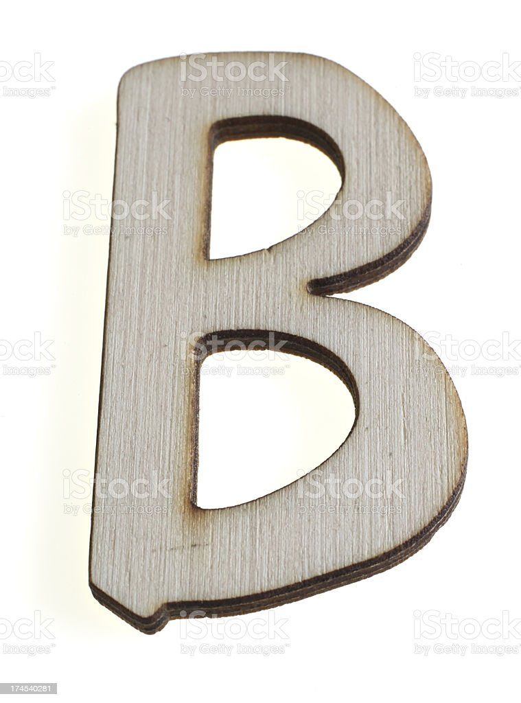 Treen Capital Letter B royalty-free stock photo