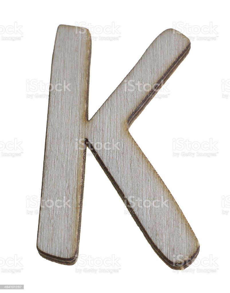 Treen Capital Letter K royalty-free stock photo