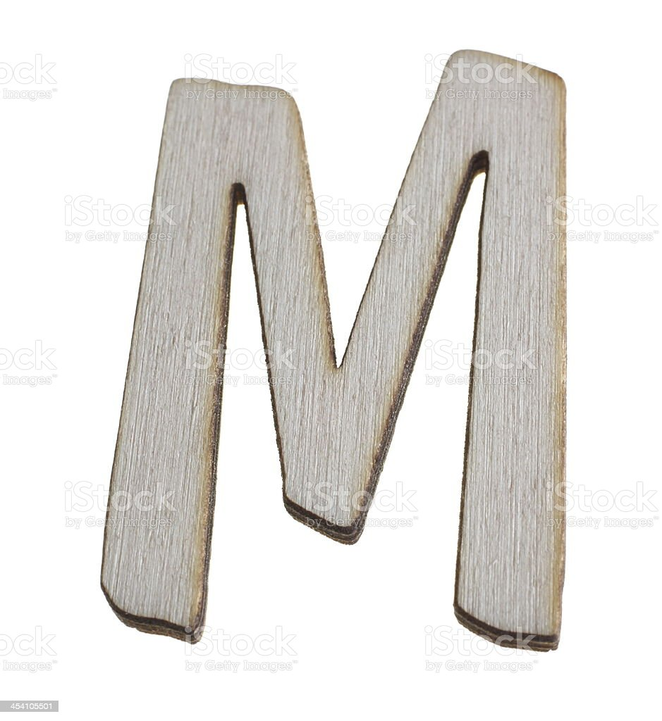 Treen Capital Letter M royalty-free stock photo