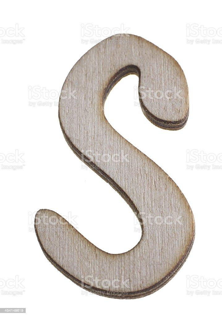 Treen Capital Letter S royalty-free stock photo