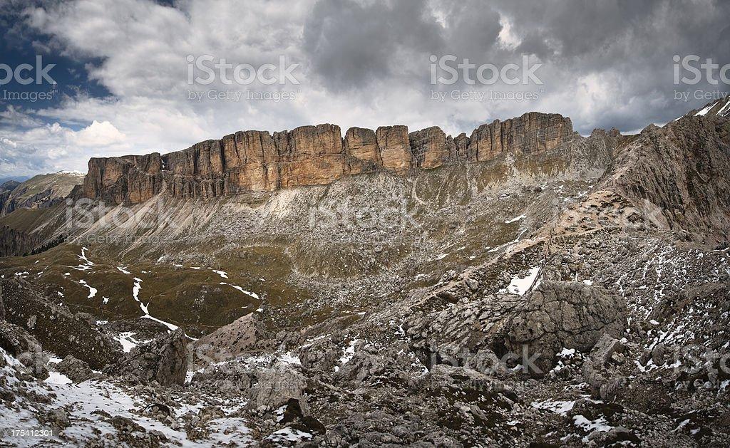 Trek in the Italian Alps stock photo