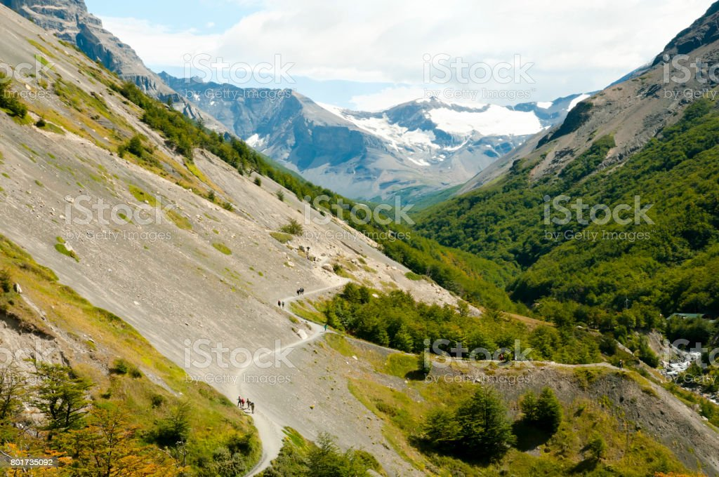 Trek Valley - Torres Del Paine - Chile stock photo