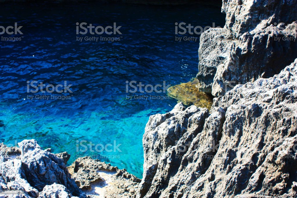treking in Crete stock photo