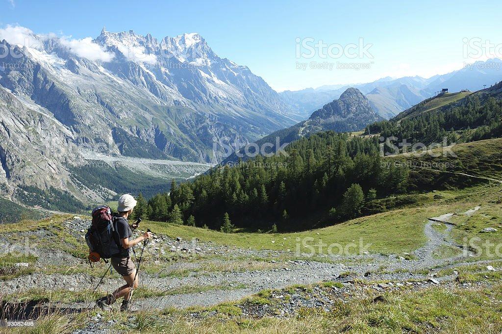 Trekker stock photo