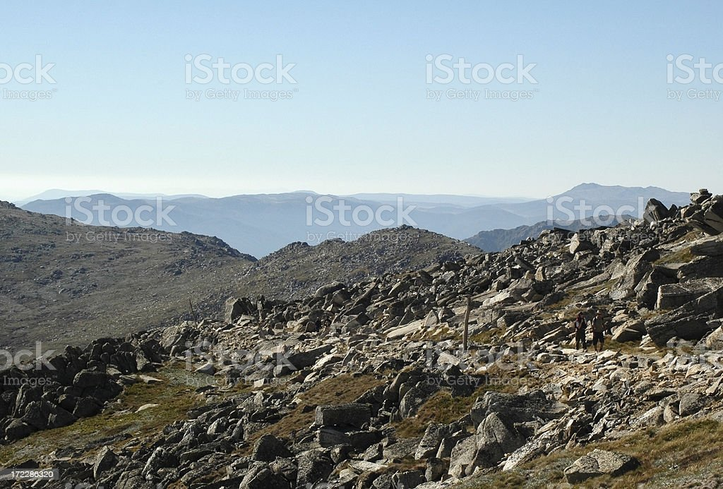 Trekkers in Australia, Mount Kosciusko #3 stock photo